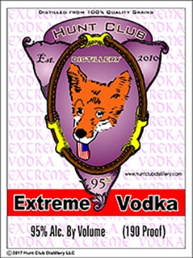 Extreme vodka label