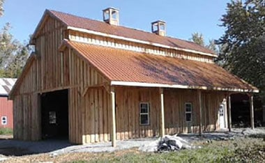 Copper roof is on the Hunt Club Distillery building