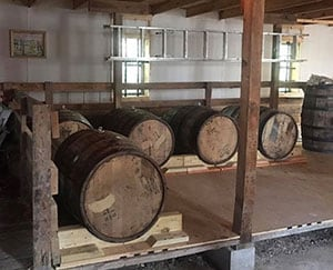 Vodka stored in barrels in Sheridan, IN