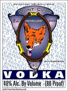 Hunt Club Vodka label