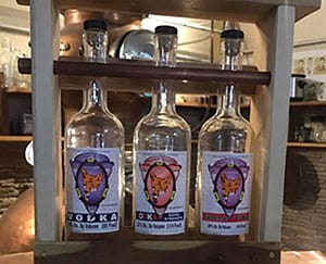Three bottles of local Vodka made by Hunt Club Distillery