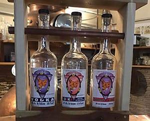 Three bottles of local Vodka made by Hunt Club Distillery