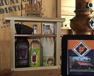 Vodka store display at Hunt Club Distillery