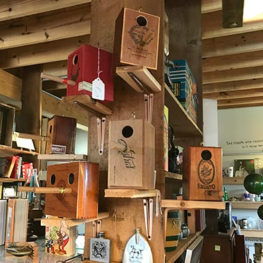 Hunt Club bird house store display in Indiana