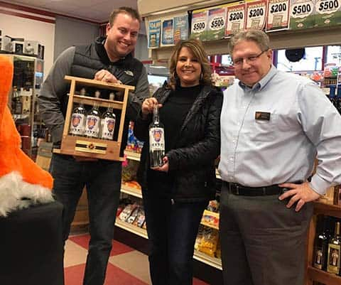 Soupley's Vodka Tasting with customers