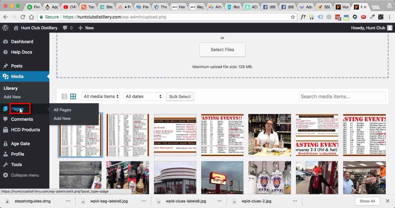 Edit Home Page:;Click on 'Pages' in Dashboard Menu.