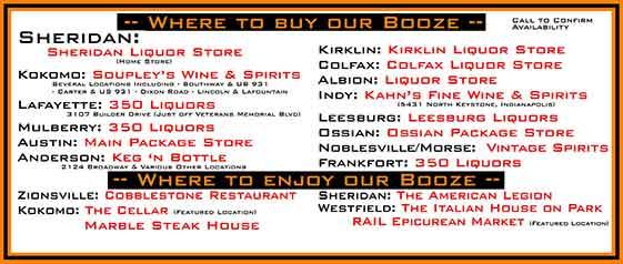 Where to buy our liquor