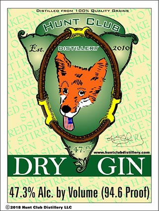 Dry Gin product label