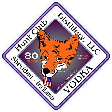 Vodka product label