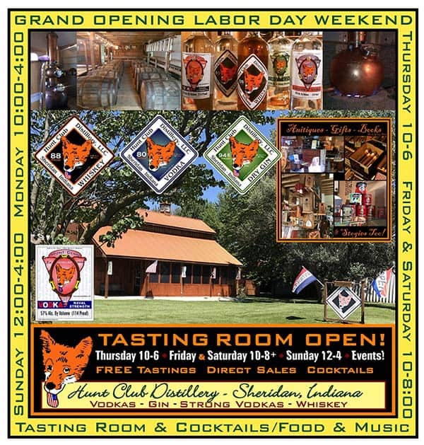 Hunt Club Tasting Room is open